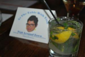 Basil Lemon Fizz - Ketel One Citroen vodka, muddled fresh basil and lemon, house-made ginger syrup, soda water