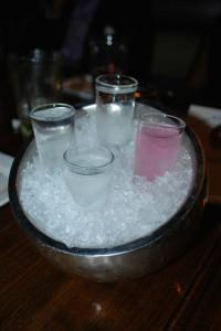 Flavored Vodka Flight - Absolute Berri Acai / Chambord Black Raspberry Sky Blood Orange-National / Rain Cucumber Lime