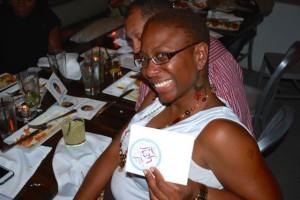 Ayanna was one of the winners of the private wine tasting hosted by yours truly