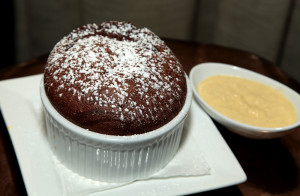 Chocolate Soufflé made fresh to order