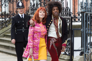 André Benjamin (Jimi Hendrix) & Hayley Atwell (Kathy Etchingham)