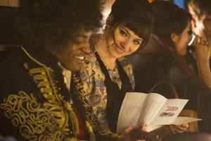 André Benjamin (Jimi Hendrix) & Imogen Poots (Linda Keith)
