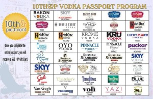 10 & Piedmont Vodka Passport