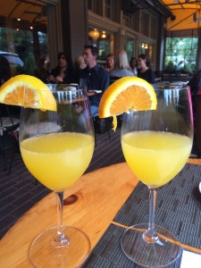 Murphy's delicious mimosa!