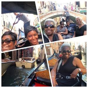 Gondola Ride in Venice with my family